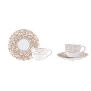 Φλυτζάνι & Πιάτο Καφέ Σετ 6τμχ. EPOCH Ιονία