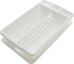 Πιατοθήκη Μικρή Πλαστική Λευκή Με Δίσκο